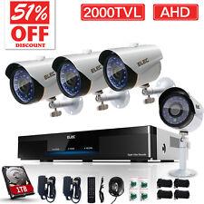 ELEC 8CH 2000TVL720P  AHD DVR Outdoor CCTV Home Security Camera System + 1TB HDD
