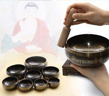 Vintage Tibetan yoga Meditation Singing bowl with wooden stiker or wand