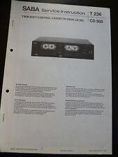 Original Service Manual SABA T 236 CD 950