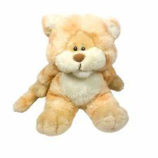 """Mattel Emotions Vintage 1983 Willard Lion Beige Orange Plush 8"""" Stuffed Toy"""