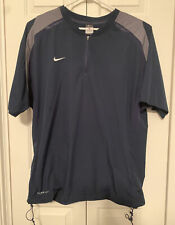 Nike Storm-Fit Mens Size Xl Golf Jacket Half Zip Short Sleeve Dark Blue & Gray
