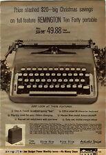 1969 ADVERTISEMENT Typewriter Remington Portable Smith Corona Corsair Ten Forty