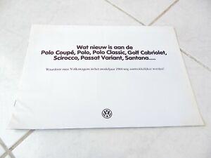 Volkswagen gamme 1984 Golf Polo Passat brochure prospekt catalogue commercial