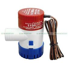 1100 GPH 12V Marine Boat Bilge Water Pump Submersible for Yacht RV SPA Pool