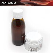 Acryl-Set: Liquid 100ml + 41g Pulver klar NAIL1.EU CLEAR Acryl Flüßigkeit Powder