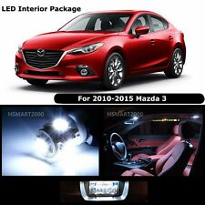 7PCS Cool White Interior LED Bulbs Package kit for 2010 - 2015 Mazda 3 Mazda3
