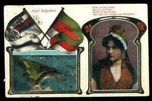 Postkarte in Farbe, Helgoland von 1924befördert nach Tharandt