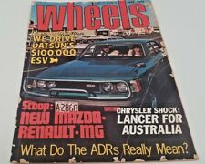 June 1974 WHEELS Magazine DATSUN ESV 240K Torana LH Mazda Rotary Marina