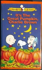 It's the Great Pumpkin Charlie Brown Peanut VHS 1996 Clamshell 1966 Tested