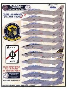Furball Decals 1/48 GRUMMAN F-14A TOMCAT Gulf of Sidra Incidents