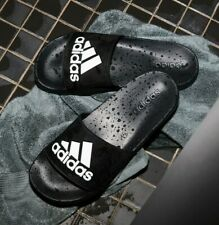 NWT ADIDAS Authentic Adilette Shower Men's Black Slip On Slides Sandals Size 10
