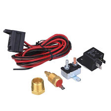 175° 185° Electric Radiator Engine Fan Thermostat Temperature Switch Relay Kit