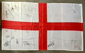 ENGLAND FLAG signed by OASIS, ROBBIE WILLIAMS, OZZY OSBOURNE, THOM YORKE +11more