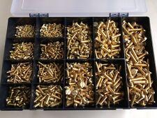 Metric M3, M4, M5, M6 Brass Slotted Pan Head Screws Assorted Box 1025 pcs Kit