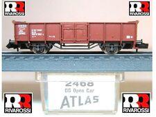 RIVAROSSI ATLAS 2468 CARRO MERCI OPEN CAR per TRASPORTO MINERALI DB BOX SCALA-N