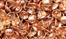 "Uffy- Copper Color Decorative Upholstery Tack Nail 7/16"" x 1/2"" Orange"