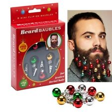 Hot!12 Quality Clip On Beard Baubles Decorations Secret Santa Xmas Present Gifts