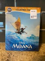 NEW Moana Blu-ray Disc SteelBook Sealed (Only Best Buy)