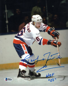 PAT LAFONTAINE SIGNED AUTOGRAPHED 8x10 PHOTO + HOF 03 ISLANDERS BECKETT BAS