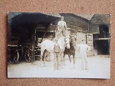 R&L Postcard: Alfred Gee Chesham Buckinghamshire, Farmers Horses, Carts