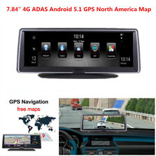 """7.84"""" Full Touch IPS 4G ADAS Android 5.1 Car GPS Navigation WIFI FM DVR Recorder"""