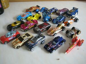 JOB LOT OF 20 HOT WHEELS TOY CARS