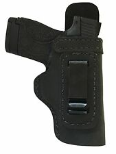 LT CUSTOM MADE HAND FIT&CUT LEATHER HOLSTER Black RIGHT IWB/SG BROWNING 1911 380