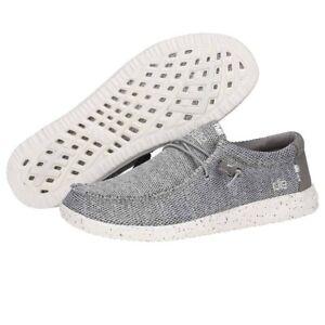 Hey Dude Wally Free Light Grey Men's Shoes Comfortable Lightweight SlipOn Casual
