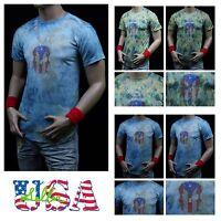 Men's Long T-Shirt Extended Shirt Vintage Urban Skull Elongated  Casual Hipster