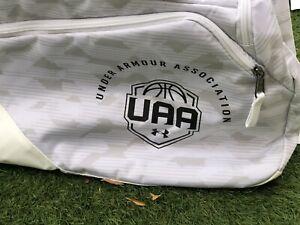 Under Armour UA Contain 4.0 UAA Basketball Duffel Bag Backpack Rare White - New