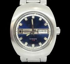 1970'S Mens TISSOT T-12 AUTOMATIC SWISS MADE Day/Date Blue Dial Wrist Watch