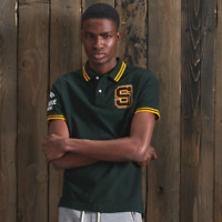 Superdry Polo Shirt Mens  Boston Superstate Polo   Academy Green