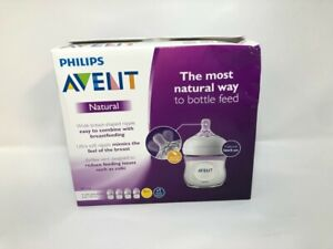 Philips Avent Natural Baby Bottle, Clear, 4 Oz, 4 Pack, SCF010/47