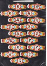Série complète  Bague de Cigare Vitola Espagne BN115375 Costumes  Tagoro