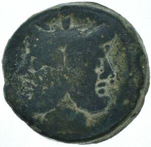 EARLY ROMAN REPUBLIC / 179BC JANUS - GALLEY SHIP / ANCIENT ROMAN COIN