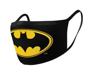 Batman Logo - 2 pack washable adult size Face Coverings - GP85554