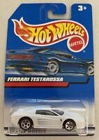 2000 Hotwheels Ferrari F512 M Testarossa White! Mint! MOC!