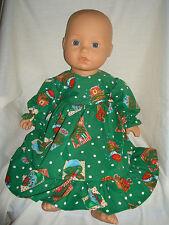 """Verde Navidad Cupcakes Vestido. ajuste muñeca bebé nacido/Annabel 16/18"""""""