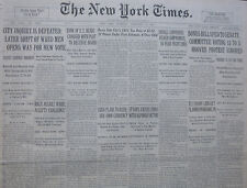 2-1931 FEBRUARY 19 SPAIN CRISIS ENDS ALFONSO VICTOR. MACY ASSAILS WARD CHALLENGE