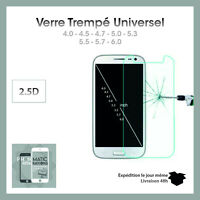 VERRE Trempé Universel tous models 4.0 4.5 5.0 5.5 5.7 6.0 pouces Haute qualite