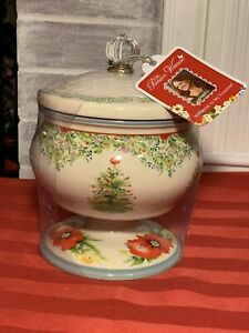 "GORGEOUS The Pioneer Woman Holiday Cheer Christmas Tree 5"" Candy Dish Lid NWT"