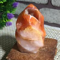 Natural Red Agate torch polished quartz crystal Specimen Healing 106g g12