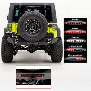 Rear Bumper+Tire Carrier+RED Lens LED Brake Taillight for 07-18 Jeep JK Wrangler
