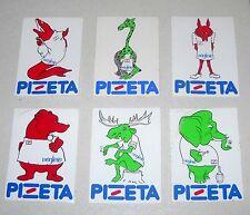 Serie 6 Adesivi PIZETA MAGLIERIA Animali sticker autocollant Pubblicità