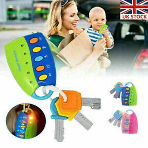 Baby kids Car Key Musical Keys Baby's Sound and Light Pretend Toy Keychain