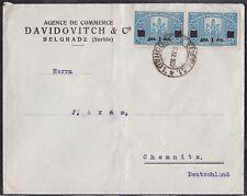 Jewish Judaica Cover Belgrade Serbia to Germany 1922 - DAVIDOVITCH & Cie