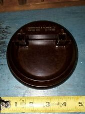 UNITED FRUIT & PRODUCE HARTFORD CONN. BROWN & BIGELOW BAKELITE ART DECO DISH