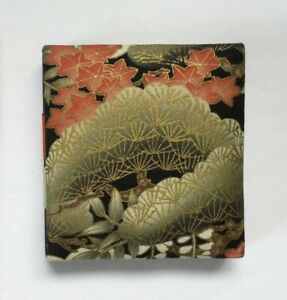 Japanese Double Open Origami Billfold Or Card / Photo Holder Floral Design