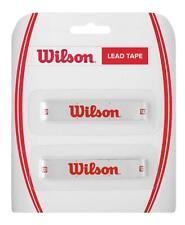 Wilson Cinta de plomo, PLOMO para tenis o Raquetas Squash 2 x 20 gramos Tiras
