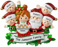 Personalized SANTA & MRS CLAUS FAMILY of 2-3-4-5-6 Christmas Tree Ornament 2020